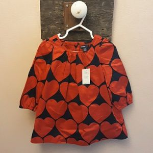 Girls Gap heart dress